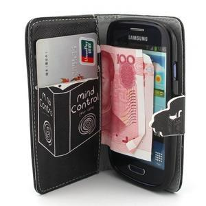 Fun peněženko puzdro na Samsung Galaxy S3 mini - kočička čte - 5