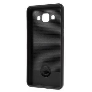 Hybridné gélové/plastové puzdro pre Samsung Galaxy A5 - čierné - 5