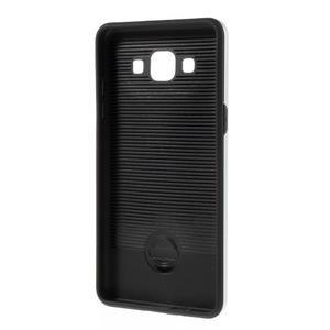 Hybridní gélové/plastové puzdro na Samsung Galaxy A5 - strieborné - 5