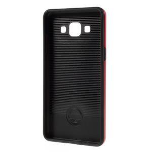 Hybridní gélové/plastové puzdro na Samsung Galaxy A5 - červené - 5