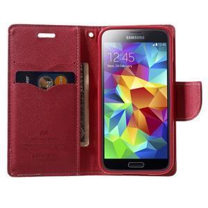 Diary PU kožené pouzdro na Samsung Galaxy S5 mini - růžové - 5