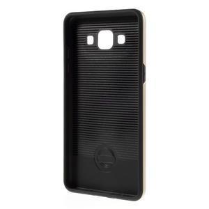 Hybridné gélové/plastové puzdro pre Samsung Galaxy A5 - zlaté - 5