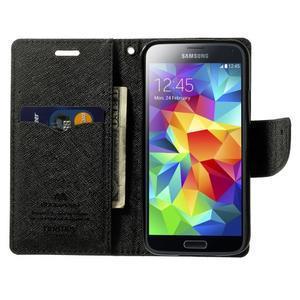Diary PU kožené pouzdro na Samsung Galaxy S5 mini - černé - 5