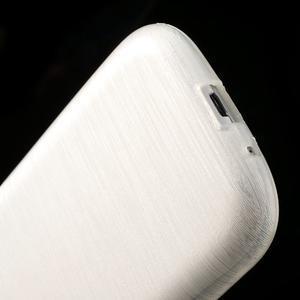Brush gélový kryt na Samsung Galaxy S III / Galaxy S3 - biely - 5