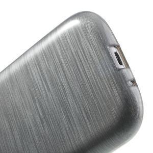 Brush gélový kryt na Samsung Galaxy S III / Galaxy S3 - šedý - 5