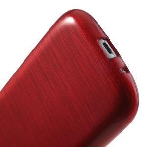 Brush gélový kryt pre Samsung Galaxy S III / Galaxy S3 - červený - 5