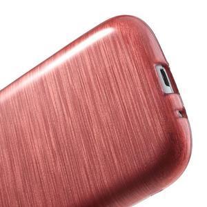 Brush gélový kryt pre Samsung Galaxy S III / Galaxy S3 - ružový - 5