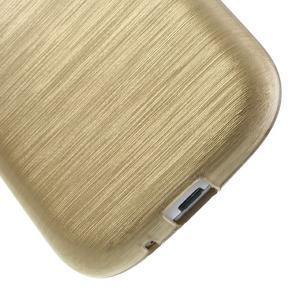 Brush gélový kryt pre Samsung Galaxy S III / Galaxy S3 - zlatý - 5