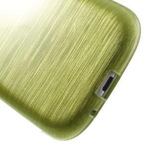 Brush gélový kryt pre Samsung Galaxy S III / Galaxy S3 - zelený - 5