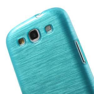 Brush gélový kryt na Samsung Galaxy S III / Galaxy S3 - modrý - 5