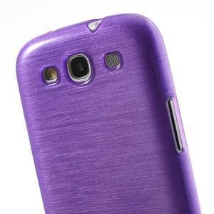 Brush gélový kryt na Samsung Galaxy S III / Galaxy S3 - fialový - 5