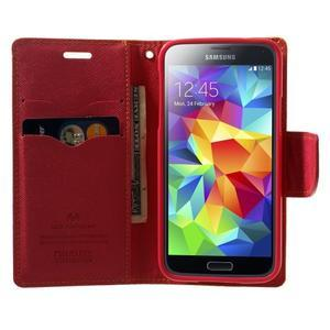 Diary PU kožené pouzdro na Samsung Galaxy S5 mini - žlutooranžové - 5