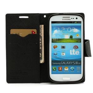 Mr. Fancy koženkové puzdro na Samsung Galaxy S3 - čierné - 5