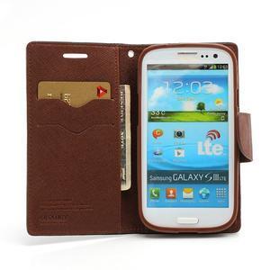 Mr. Fancy koženkové puzdro pre Samsung Galaxy S3 - čierné/hnedé - 5
