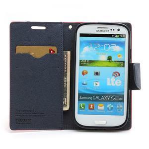Mr. Fancy koženkové puzdro na Samsung Galaxy S3 - červené - 5