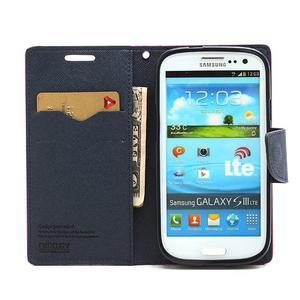 Mr. Fancy koženkové puzdro na Samsung Galaxy S3 - rose - 5