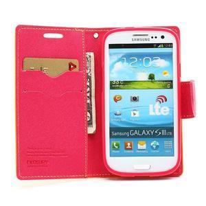 Mr. Fancy koženkové puzdro na Samsung Galaxy S3 - žlté - 5