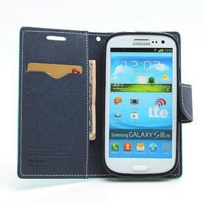 Mr. Fancy koženkové puzdro pre Samsung Galaxy S3 - azúrové - 5