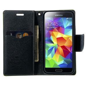 Diary PU kožené puzdro pre Samsung Galaxy S5 mini - zelené - 5