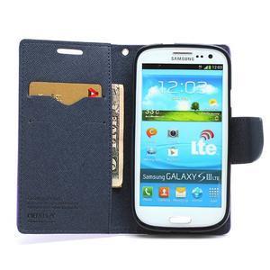 Mr. Fancy koženkové puzdro pre Samsung Galaxy S3 - fialové - 5