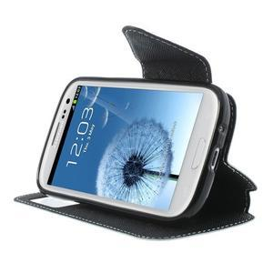 Peňaženkové puzdro s okýnkem pre Samsung Galaxy S3 / S III - biele - 5