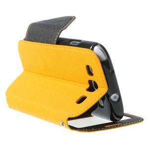 Peňaženkové puzdro s okienkom pre Samsung Galaxy S3 / S III - žlté - 5