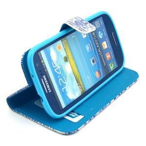 Peňaženkové puzdro na mobil Samsung Galaxy S III - sloni - 5
