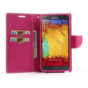 Goosp PU kožené puzdro na Samsung Galaxy Note 3 - růžové - 5
