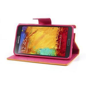 Goosp PU kožené puzdro na Samsung Galaxy Note 3 - žlté - 5