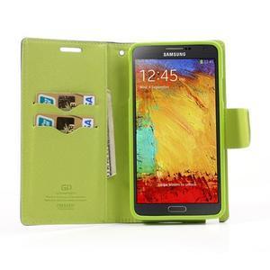 Goosp PU kožené puzdro pre Samsung Galaxy Note 3 - tmavo modré - 5