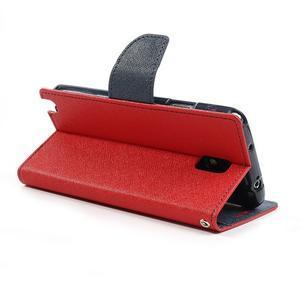 Goosp PU kožené puzdro pre Samsung Galaxy Note 3 - červené - 5