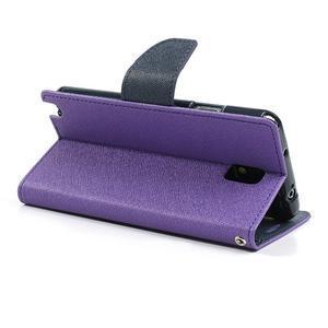 Goosp PU kožené puzdro na Samsung Galaxy Note 3 - fialové - 5