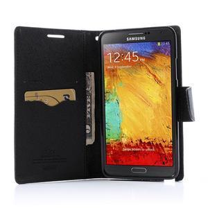 Goosp PU kožené puzdro na Samsung Galaxy Note 3 - čierné/hnedé - 5