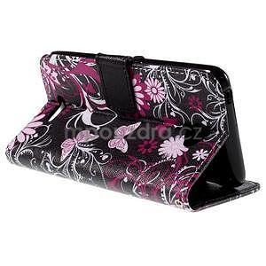 Koženkové puzdro pre mobil Sony Xperia E4 - motýľe - 5