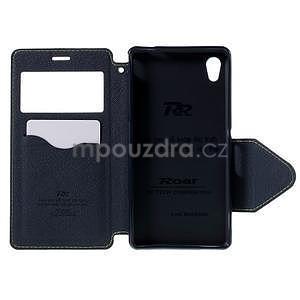 Peněženkové pouzdro s okýnkem pro Sony Xperia M4 Aqua - zelené - 5
