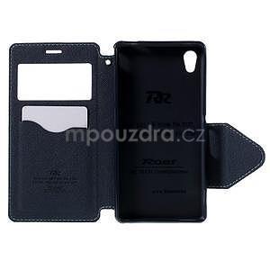 Peňaženkové puzdro s okienkom pre Sony Xperia M4 Aqua - svetlomodré - 5