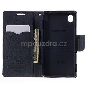 Ochranné puzdro pre Sony Xperia M4 Aqua - červené/tmavomodré - 5