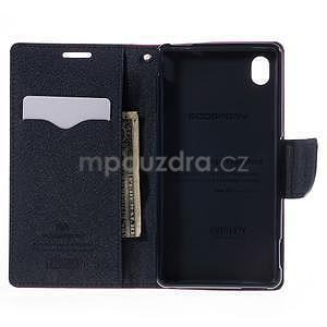 Ochranné puzdro pre Sony Xperia M4 Aqua - rose/tmavomodré - 5