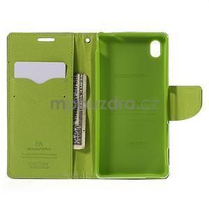 Ochranné pouzdro na Sony Xperia M4 Aqua - tmavěmodré/zelené - 5