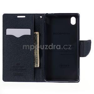 Ochranné puzdro pre Sony Xperia M4 Aqua - fialové/tmavomodré - 5