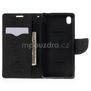 Ochranné puzdro pre Sony Xperia M4 Aqua - hnedé/čierne - 5