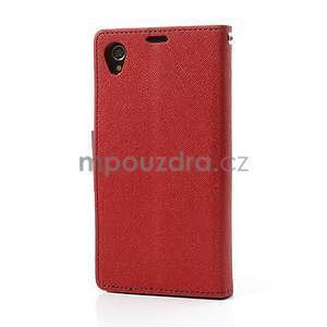 Fancy Peňaženkové puzdro pre mobil Sony Xperia Z1 - červené - 5
