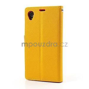 Fancy Peňaženkové puzdro pre mobil Sony Xperia Z1 - žlté - 5