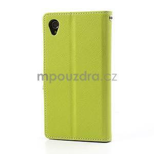 Fancy peněženkové pouzdro na mobil Sony Xperia Z1 - zelené - 5