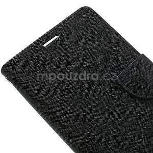 Fancy Peňaženkové puzdro pre mobil Sony Xperia Z1 - čierne - 5