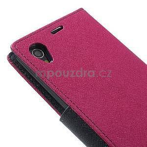 Fancy Peňaženkové puzdro pre mobil Sony Xperia Z1 - rose - 5