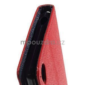 Peněženkové pouzdro na mobil Sony Xperia Z3 - červené - 5