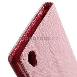 Peňaženkové puzdro pre mobil Sony Xperia Z3 - ružové - 5