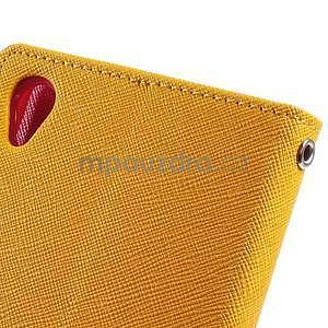 Peňaženkové puzdro pre mobil Sony Xperia Z3 - žlté - 5