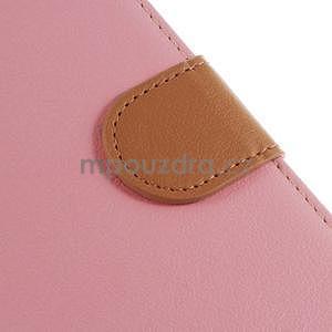 Koženkové puzdro pre Sony Xperia Z3 - ružové - 5